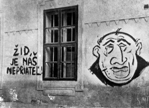 Anti-semitic graffiti in Bratislava