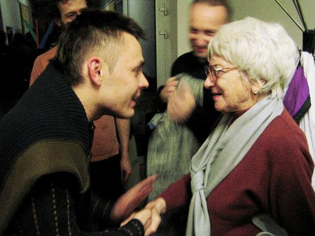 pani Adamková s V. Dočolomasnkým na Stanici v r. 2006