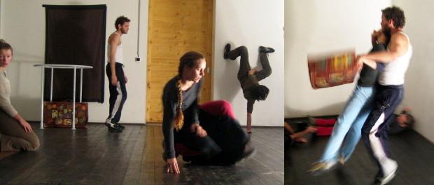 Divadelný tréning Farmy v jeskyni v priestore Čakárne na Stanici Záriečie, 2006