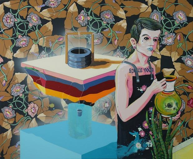 Erik Šille: Spiaca voda, 140 x 160 cm, 2014