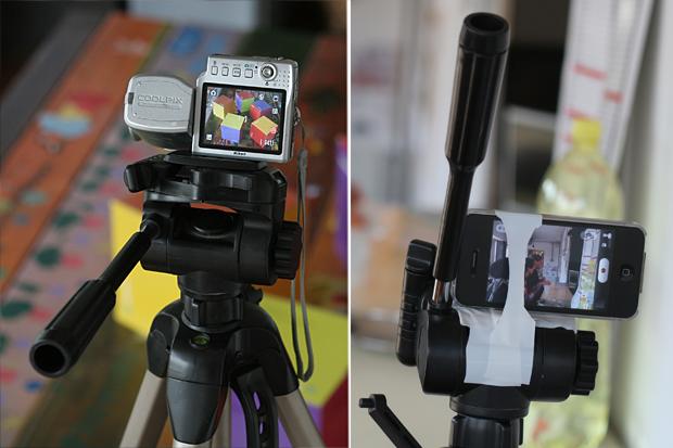 Fotoaparát alebo mobil pripevníme na statív